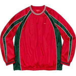 SUPREME Piping Warm Up Pullover Red Green {DD54}